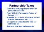 partnership taxes