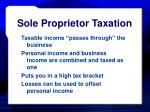 sole proprietor taxation