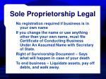 sole proprietorship legal