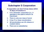 subchapter s corporation26