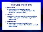 the corporate form