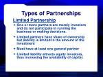 types of partnerships12
