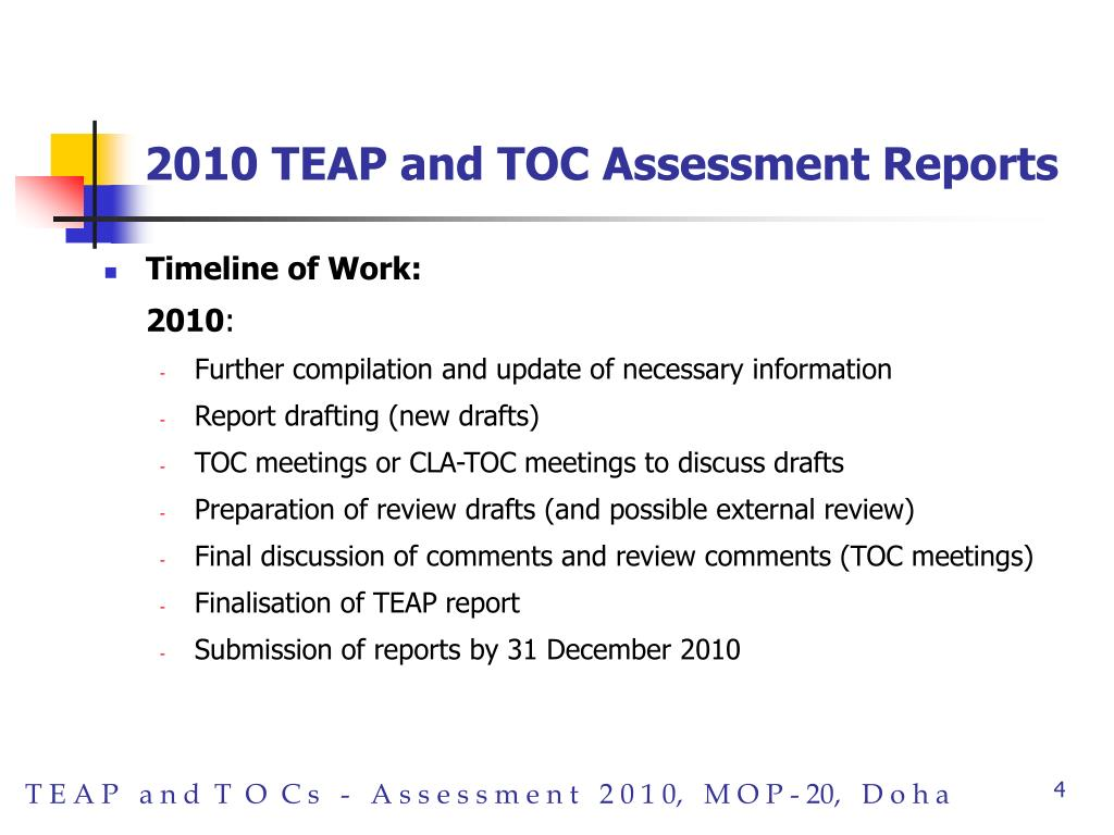 2010 TEAP and TOC Assessment Reports