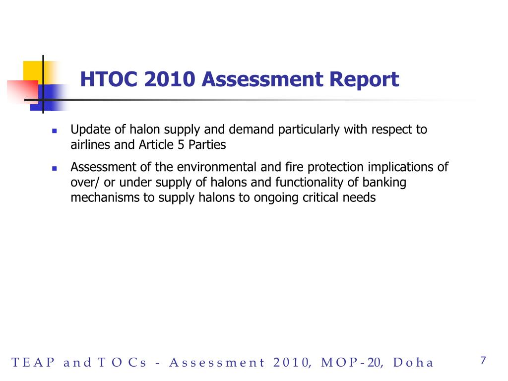HTOC 2010 Assessment Report