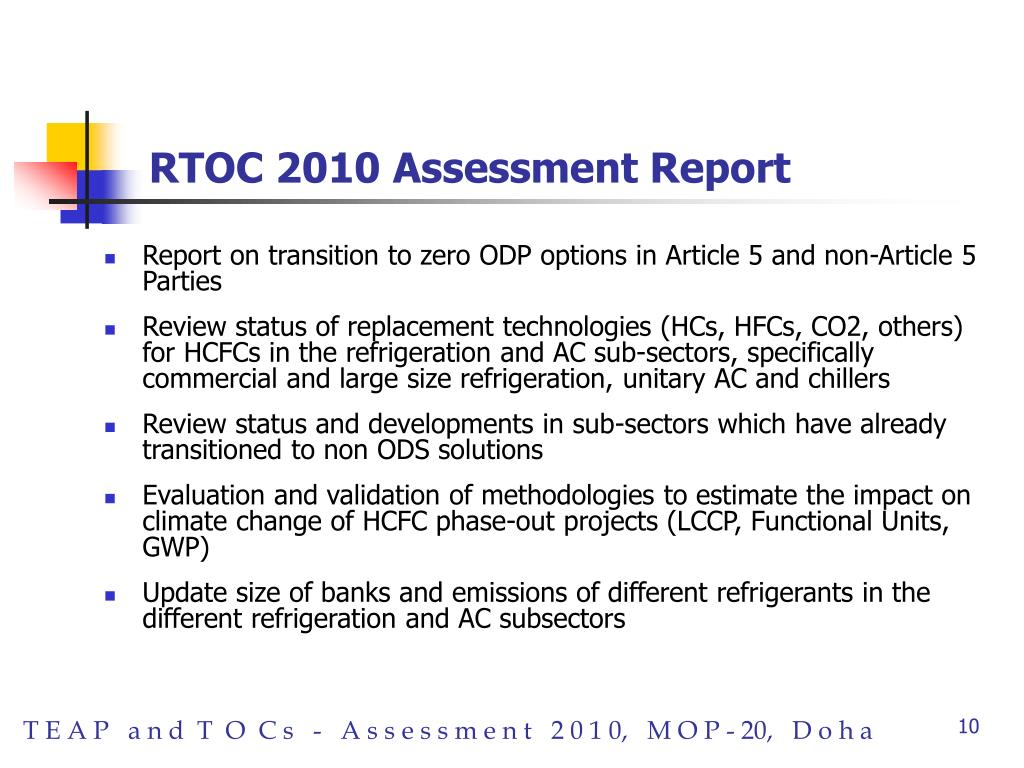 RTOC 2010 Assessment Report
