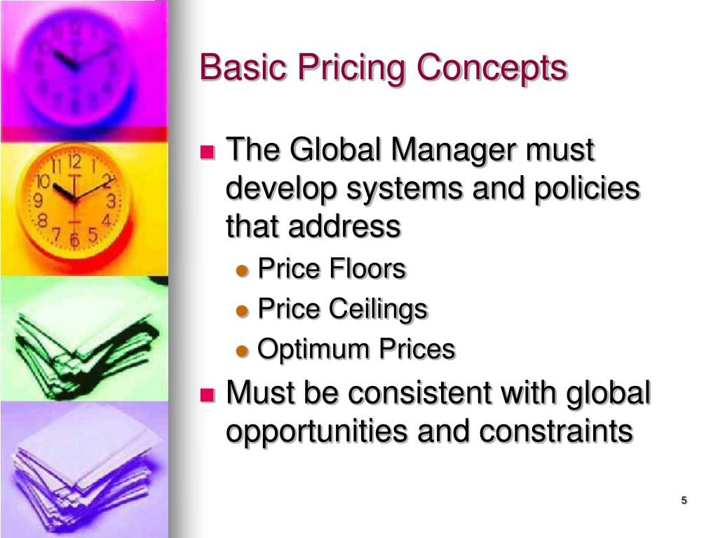 Basic Pricing Concepts