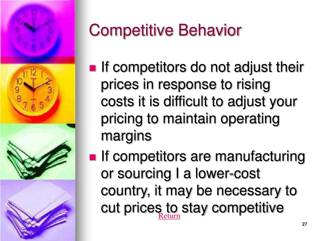 Competitive Behavior