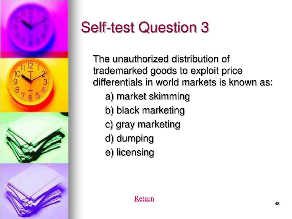 Self-test Question 3