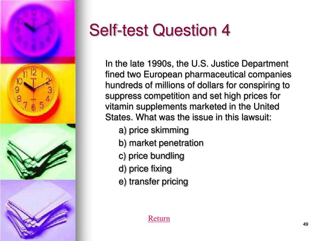 Self-test Question 4