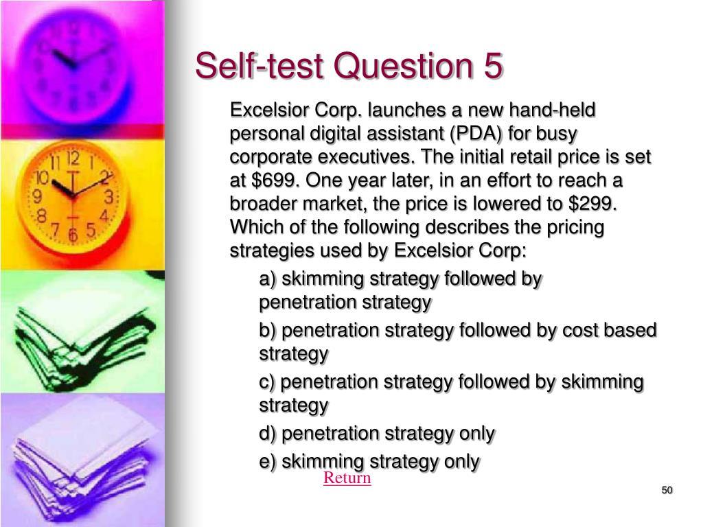 Self-test Question 5
