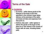 terms of the sale20
