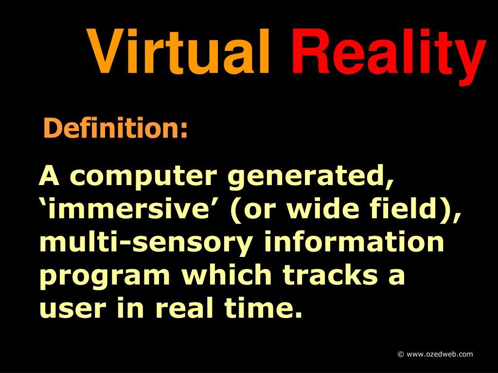 virtual reality l.