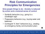 risk communication principles for emergencies17