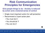 risk communication principles for emergencies18