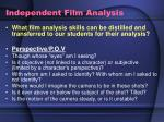 independent film analysis