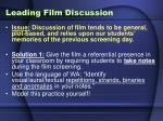 leading film discussion