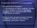 preparing students to screen films5