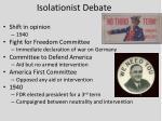 isolationist debate