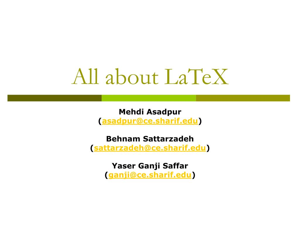 all about latex l.