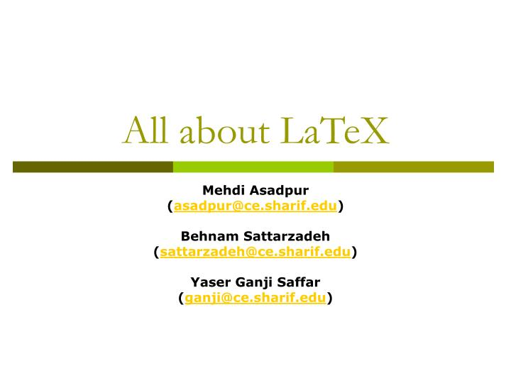 all about latex n.