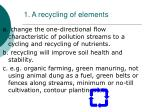 1 a recycling of elements