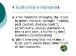 4 biodiversity is maintained