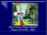 who framed roger rabbit roger zemeckis 1988