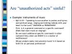 are unauthorized acts sinful13
