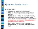 questions for the church3