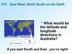 east west north south on the earth4