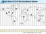 what time is it in the locations below