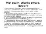 high quality effective product literature