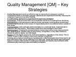 quality management qm key strategies