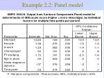 example 2 2 panel model