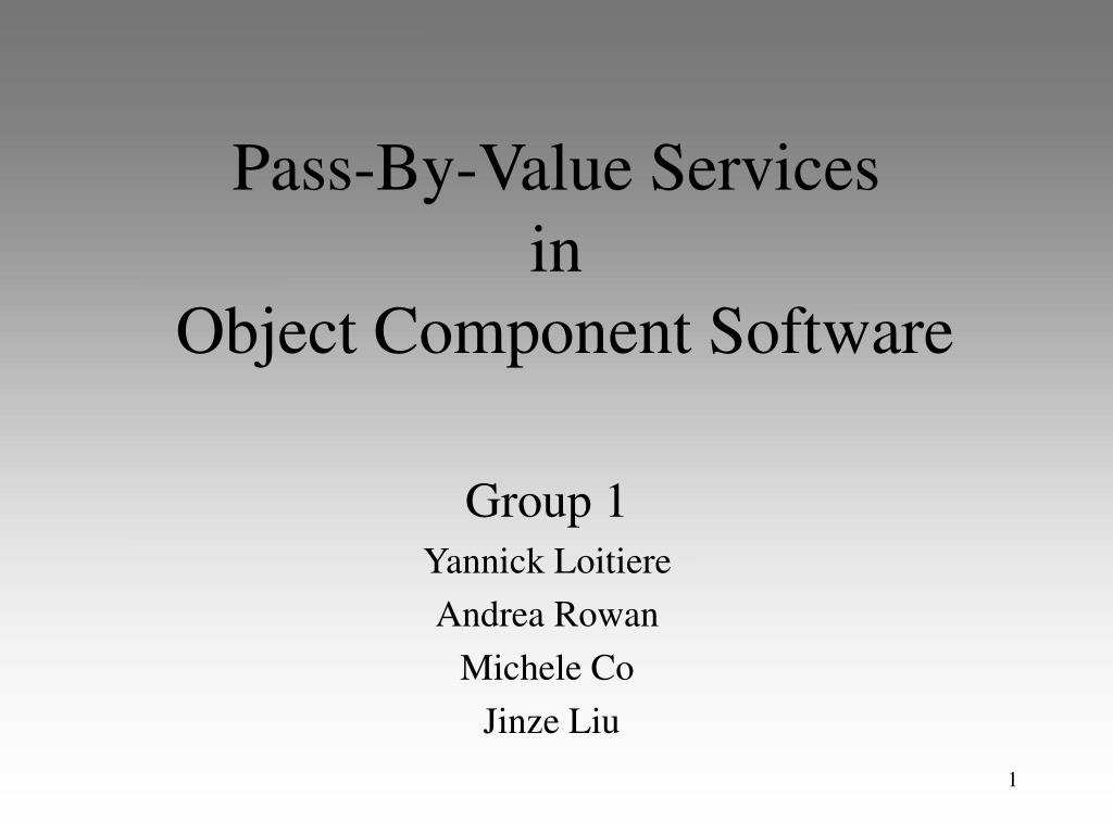 pass by value services in object component software l.