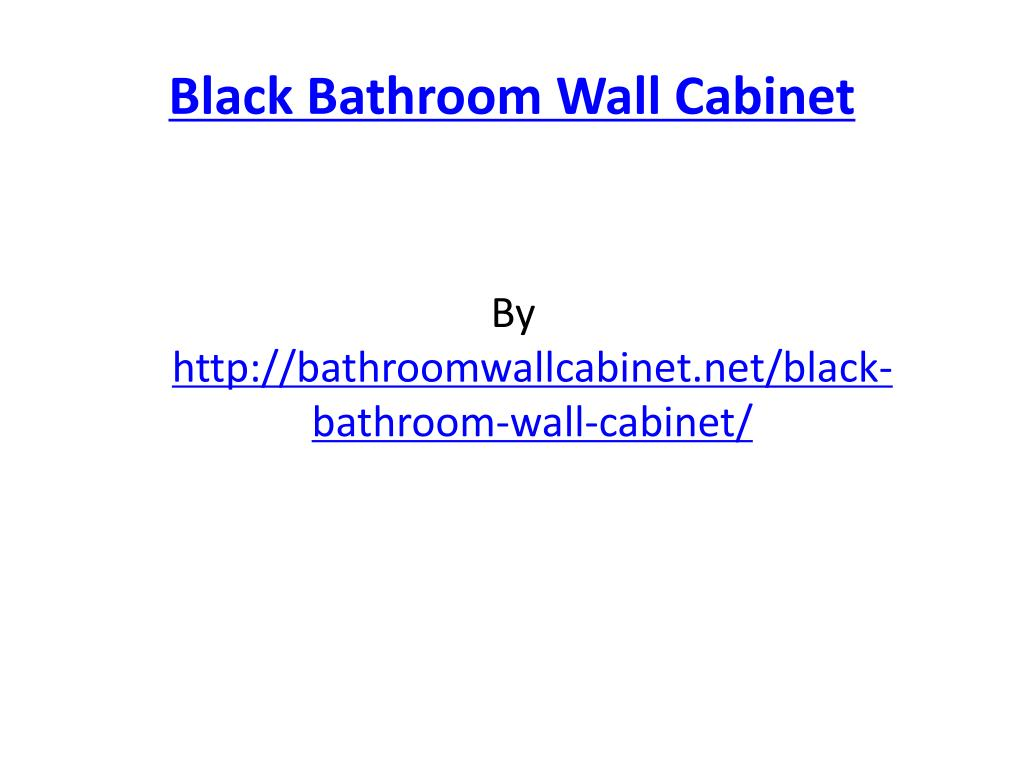 black bathroom wall cabinet l.