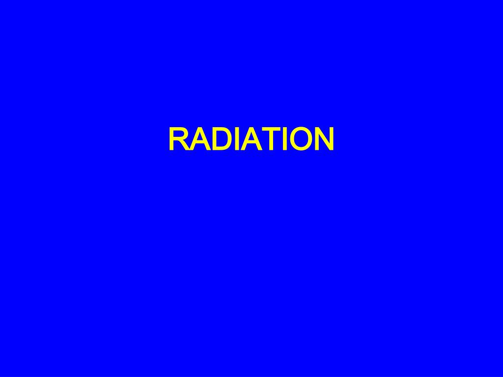 radiation l.