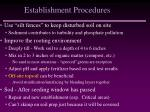 establishment procedures