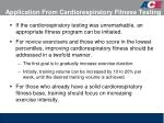 application from cardiorespiratory fitness testing