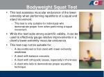 bodyweight squat test