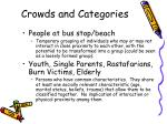 crowds and categories