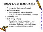 other group distinctions