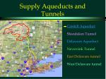 supply aqueducts and tunnels