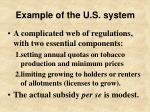 example of the u s system