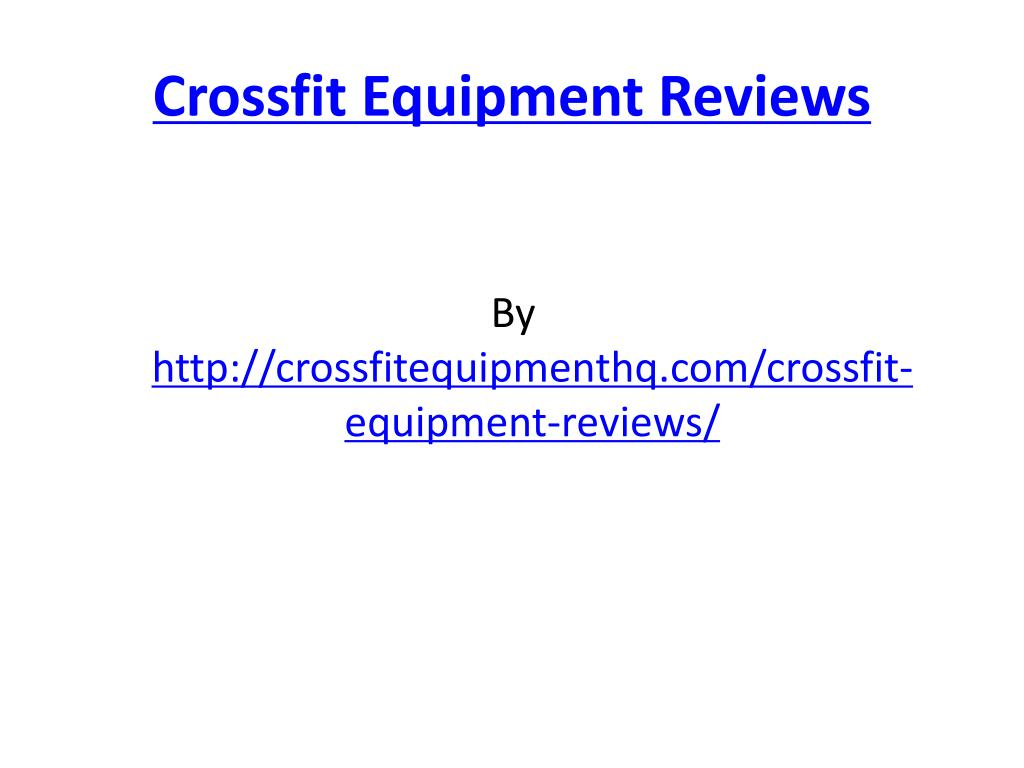 crossfit equipment reviews l.