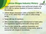 latvian biogas industry history