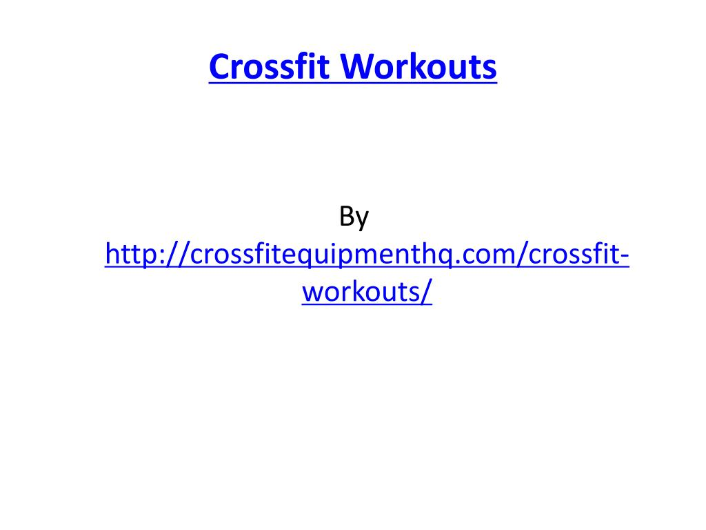 crossfit workouts l.