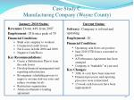 case study c manufacturing company wayne county