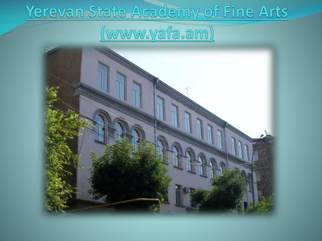 yerevan state academy of fine arts www yafa am l.