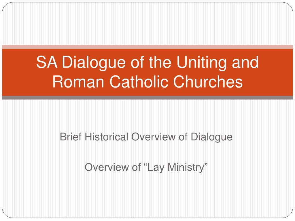 sa dialogue of the uniting and roman catholic churches l.